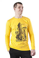 Футболка мужская с длинным рукавом Flatiron 3 с принтом
