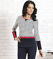 Женская трикотажная блуза в полоску с длинным рукавом. Модель Fryda Top-Bis.