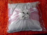 """Подушка под свадебные кольца """"Нежно-розовый квадрат"""""""