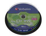 Диски cd-rw 700Mb Verbatim 43480, 10шт. шпиндель
