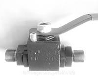 Кран шаровый стальной высокого давления штуцерно-ниппельный Ду25 Ру320