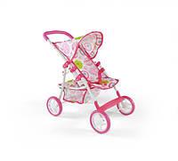 Акция!Оригинал 120509 Коляска для кукол NATALIA бело-розовая