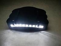 Фонарик на кепку police bl-7300, 9 диодов, зажимы на козырек, пластиковый корпус, питание от батареек ааа
