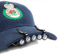 Фонарик на кепку headlamp, bl-7215, 5 led-диодов, 96 часов беспрерывной работы, питание 2*cr2032, пластик