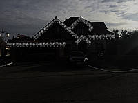 Светодиодное оформление частных домов