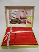 Набор полотенец (лицевое и банное), Красный