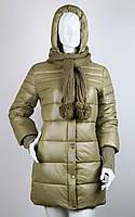 Пуховик женский с шарфом Covily 951 (Thinsulate)