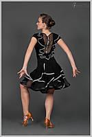 """Костюм для танцев """"Тату"""" (в наличии блуза р.30 бирюз.отд, р.34 с крас.отд., р.36 чёрная)"""