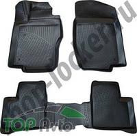 L.Locker Глубокие резиновые коврики в салон Mercedes-Benz ML GL (W164) (05-11)