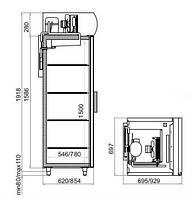Шкаф холодильный Polair DM 107-S