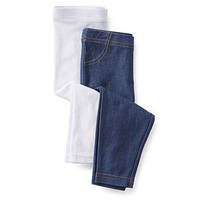 Леггинсы детские на девочку джинс-белые