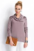 Женская кофточка цвета капучино с воротником-хомут. Модель Р23 Sunwear, коллекция осень-зима 2015