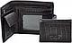 Мужское классическое кожаное  портмоне WANLIMA (ВАНЛИМА) W620437902501-black, фото 3