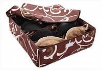Органайзер на 7 секций с крышкой Шоколад, коробочка для хранения белья