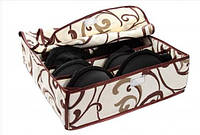 Органайзер на 7 секций с крышкой Шоколад беж, коробочка для хранения белья