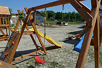 Игровой комплекс с горкой и качелями Люкс