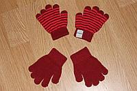 Весенние детские перчатки Красные
