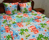 Постельное в детскую кроватку, манеж Слоники гол