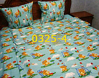 Постельное в детскую кроватку, манеж бирюза