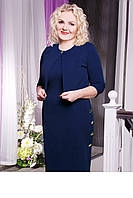 Костюм женский платье и пиджак батал