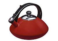 Эмалированный чайник со свистком Granchio Cosmico Rosso 88601