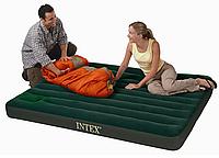 Двуспальный надувной матрас intex 66929 с насосом, 152х203х22 см