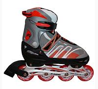 Коньки роликовые раздвижные Kepai F1-K02 серо-красный