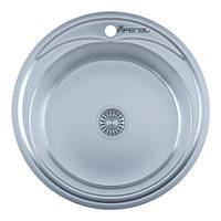Мойка для кухни врезная 490А Decor 0.6 мм