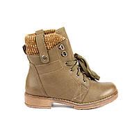 Женские ботинки на низком ходу (болотный)