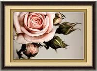 """Картина по номерам """"Роза Пастель"""" (алмазная мозаика)"""