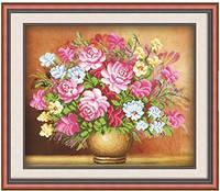 """Набор для рисования камнями """"Ваза с чудесными цветами"""""""