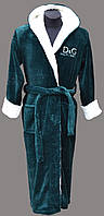 "Мужские халаты ""D&G"" цвет темно-зеленный"