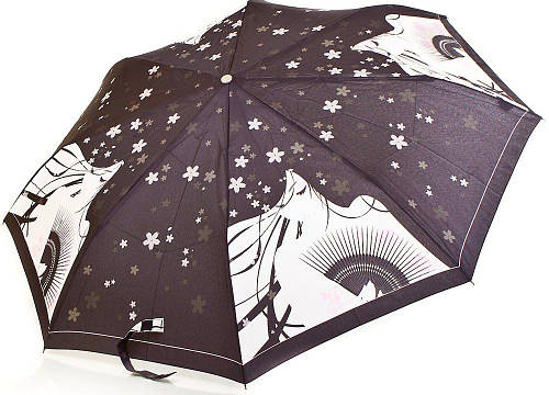 Оригинальный женский зонт полуавтомат ZEST (ЗЕСТ) Z53626B-12 Антиветер!