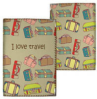 Обложка на паспорт Я люблю путешествовать