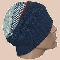 Вязаная мужская шапка-носок в этническом стиле