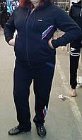 Молодёжный женский  тёплый спортивный костюм на флисе Adidas большой размер