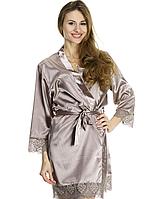 Красивый женский шелковый халат