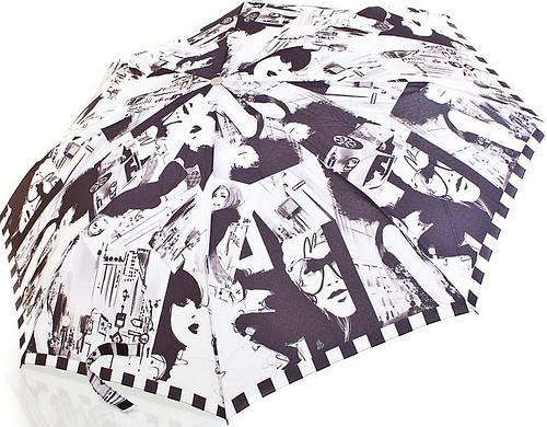 Стильный полуавтоматический женский зонт  ZEST (ЗЕСТ) Z53626A-4 Антиветер!