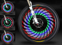 Светодиодная подсветка колес для безопасного передвижения велосипедистов на спицы