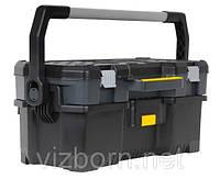 """Открытый профессиональный пластмассовый ящик для инструмента со съемным кейсом """"Stanley"""" 24"""" 1-97-506"""