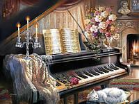 Набор для рисования 40 × 50 см. Музыкальный вечер у камина худ. Гибсон, Джуди