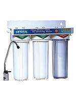 Проточный фильтр для очистки воды CRYSTAL (КРИСТАЛЛ), в системе UWF-XG 3 используется 3-х ступенчатая очистка