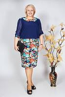 Батальное женское платье большого размера