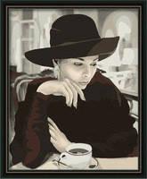 """Набор алмазной вышивки (рисования камнями) """"Задумчивость. За чашкой кофе"""". Художник Стивен Хендер"""