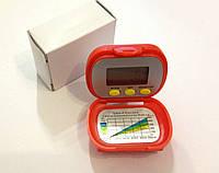 Мини шагомер с крышкой ( часы,секундомер, калории, расстояние )