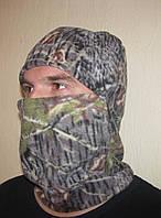 Флисовая шапка-маска камуфлированная