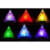 Светящиеся часы - будильник Хамелеон пирамидка