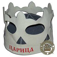 """""""Царица"""", шапка для бани и сауны (шерсть, войлок)"""