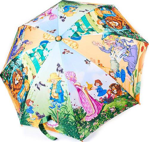 Сказочный облегченный детский  зонт-трость полуавтомат ZEST (ЗЕСТ) Z21665-1