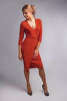Шикарное платье из плотной и эластичной креповой ткани, фото 1
